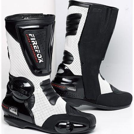 DXR motoristični športni škornji 1.0, moško, črno-beli, 44