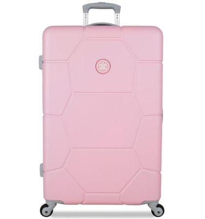 SuitSuit ABS Gurulós bőrönd, Világos pink
