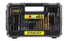 Stanley zestaw bitów oraz wierteł, 53 elementy