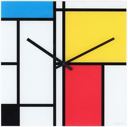 NEXTIME Zegar ścienny 8156 Times Lines