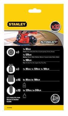Stanley Csiszolópapír készlet KA280K multicsiszológéphez