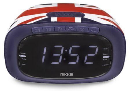 Nikkei NR200 Órás rádió, Piros/Kék