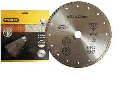 Stanley TURBO Gyémánt vágókorong, 230 x 22.2 mm