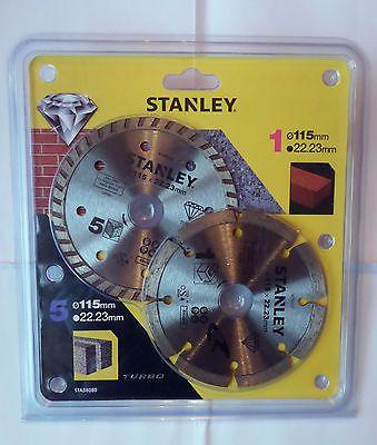 Stanley Gyémánt vágókorong, Szegmentált, 115 x 22.2 mm, 2 db