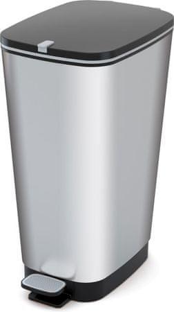 Kis koš za odpadke Chic Bin Steel, 50 l, siv