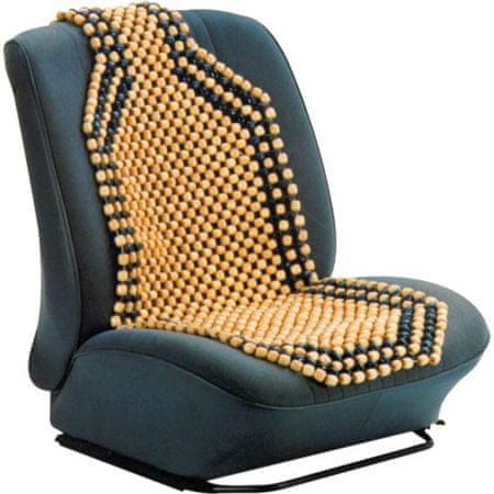 CarPoint mata masująca na siedzenie, naturalne drewno
