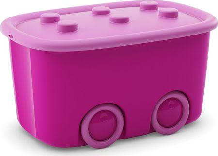 Kis škatla za shranjevanje Funny Box, 46 l, roza