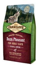 Carnilove sucha karma dla kota Duck & Pheasant for Adult Cats – Hairball Control 2 kg