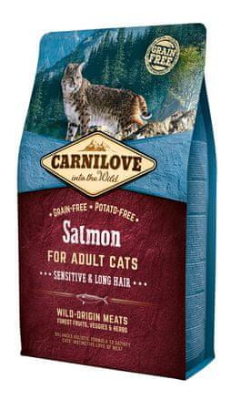 Carnilove sucha karma dla kota Salmon for Adult Cats – Sensitive & Long Hair 2 kg