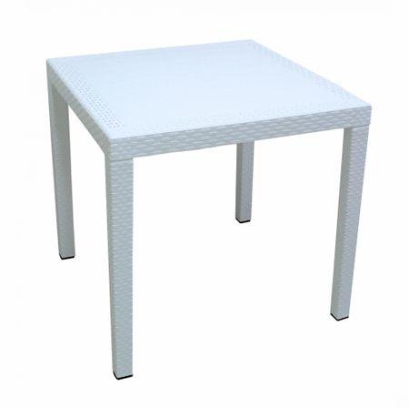 MEGA PLAST MP696 RATAN LUX stôl, polyratan, 71x75,5 biela