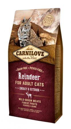 Carnilove sucha karma dla kota Reindeer for Adult Cats – Energy & Outdoor 6 kg