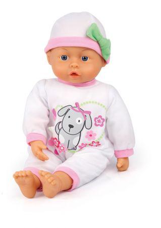 Bayer Design dojenček First words baby 38 cm, bela