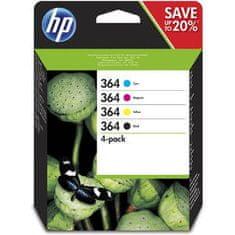 HP zestaw wkładów atramentowych 364, 4 szt. – czarny, cyjan, magenta, żółty (N9J73AE)