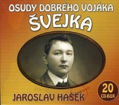 Hašek Jaroslav: Osudy dobrého vojáka Švejka - KNP - komplet 20 CD