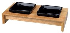 Trixie keramičke posude u drvenom stalku 2x0,4/13cm