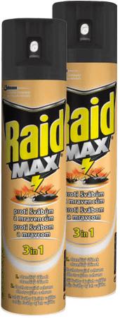 Raid Spray przeciw pełzającym owadom, 2x 400 ml