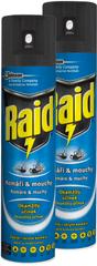 Raid Spray przeciw owadom latającym, 2x 400 ml
