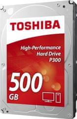 "TOSHIBA tvrdi disk P300 3.5"", 500 GB, 7200rpm, 64MB, SATAIII"