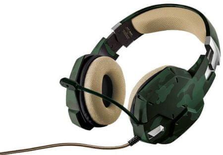 Trust GXT 322 Dynamic Gaming headset, Zöld terepszínű (20865)