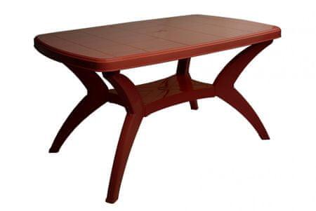 MEGA PLAST MODELLO MP467 Asztal, Bordó
