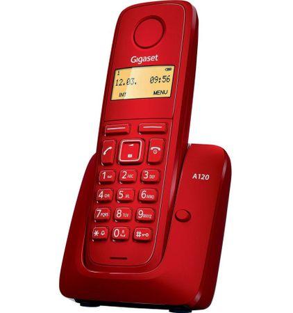 Gigaset A120 Vezeték nélküli telefon, Piros