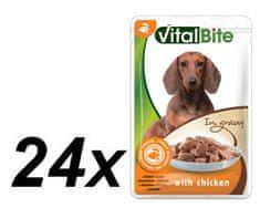 VitalBite hrana za pse, piletina, 24 x 85 g