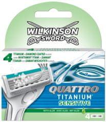 Wilkinson Sword Quattro Titanium Sensitive Náhradné hlavice 4 ks