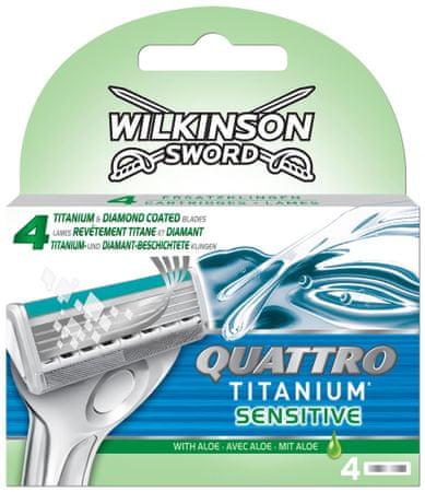 Wilkinson Sword Quattro Titanium Sensitive Náhradní hlavice 4ks