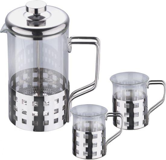 BERGNER Konvička na čaj či kávu se dvěma hrnky