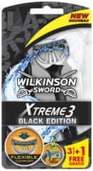 Wilkinson Sword Xtreme3 Black Jednorázový holicí strojek 4ks