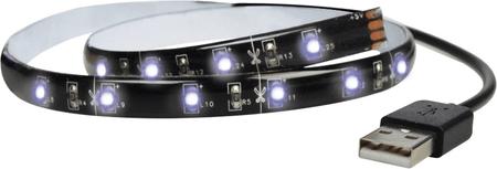 Solight Taśma LED 100 cm, USB, zimna biel