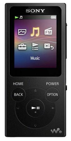 Sony NW-E394B / 8GB, černá