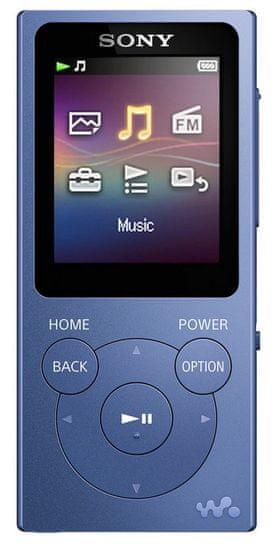 SONY NW-E394L / 8GB, modrá