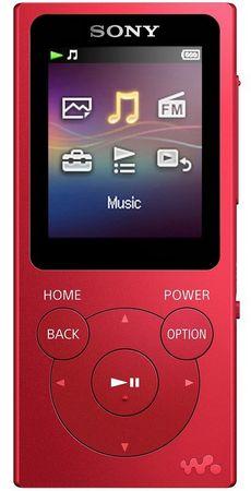 SONY NW-E393R / 4GB, červená