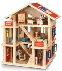 Bayer Chic Domek drewniany 3-piętrowy dla lalek 29301