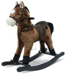Bayer Chic Koń na biegunach z dźwiękiem, ciemny brąz