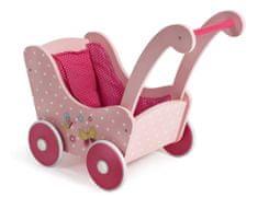 Bayer Chic Drewniany wózek dla lalek retro różowy