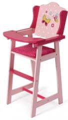 Bayer Chic Drewniane krzesełko do karmienia dla lalek, różowe