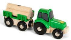 Brio Traktor z przyczepą i drewnem 33799