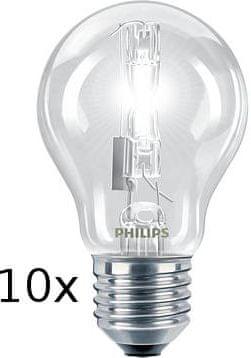 Philips Zestaw żarówek EcoClassic30 70W E27 set 10szt.
