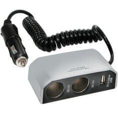 CarPoint Rozdvojka 12V - s USB prípojkou