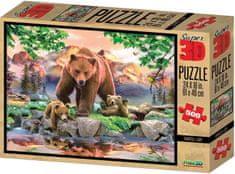 Lamps 3D Puzzle Medvede 500 dielikov