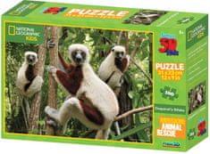 Lamps 3D Puzzle Kids Lemur 100 dielikov