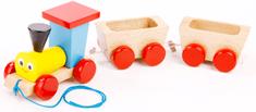 Miva Vacov Vláček + 2 vagónky tahací barevný