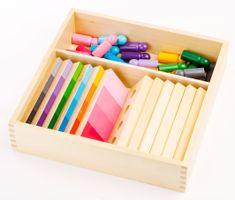 Montessori Tieňovanie farieb - figúrky s doštičkami