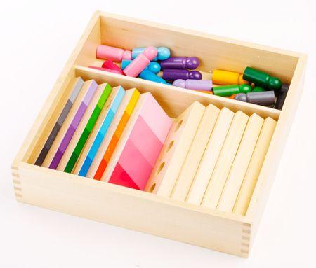 Montessori Barvno senčenje - figurice s ploščami