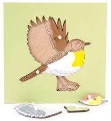 Montessori Puzzle csontvázzal - madár