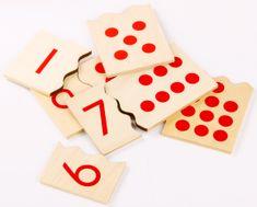 Montessori Čísla a bodky - puzzle
