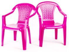 Grand Soleil 2 krzesła dla dzieci, różowe