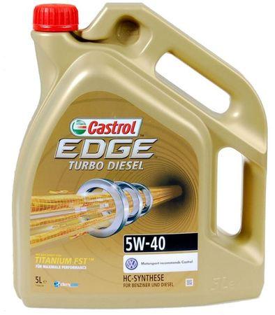 Castrol olje EdgeTurboDiesel 5W40, 5 l